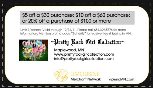 Pretty Rock Girl Coupon- VIP Limousine Merchant Network