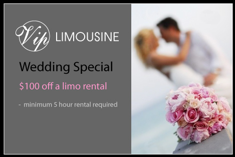 Twin Cities Limousine rental Wedding specials