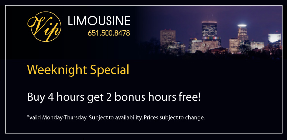Twin Cities Limousine rental weekday specials